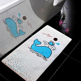 Lovely Cute Cartoon Whale Image Bath Rug