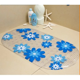 Bargain Price Transparent  Flower Massage Salient Point PVC   Bath Mat