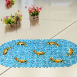 Unique Pretty Yellow Dolphin Print Bath Mats