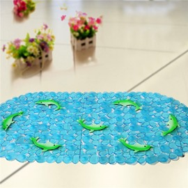 Unique Pretty Green Dolphin Print Bath Mats
