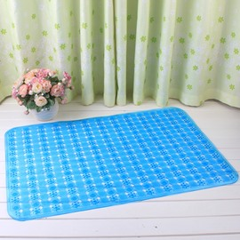 Blue Non-Slip Anti-Bacterial Translucent Massage PVC Bath and Shower Mat