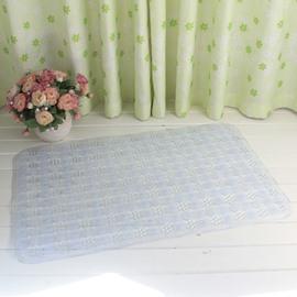 White Non-Slip Anti-Bacterial Massage PVC Bath and Shower Mat
