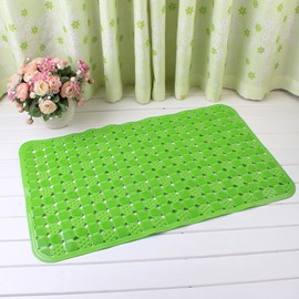 Green Non-Slip Anti-Bacterial Massage PVC Bath and Shower Mat
