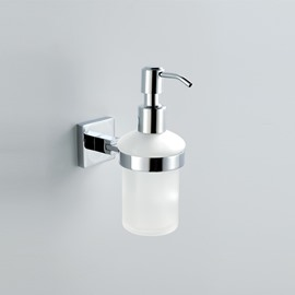 Chrome Finish Holder Soap Dispenser