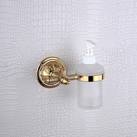 Liquid soap dispenser rack,Brass,Golden finish
