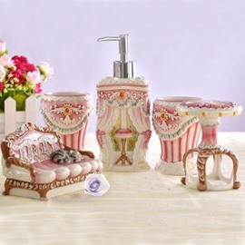 High Quality European Style Luxurant Sketching Bathroom Accessories