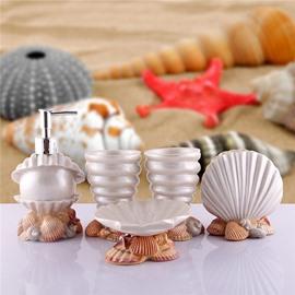 Glorious Mediterranean Style Sea Shell Pearl Bath Ensembles
