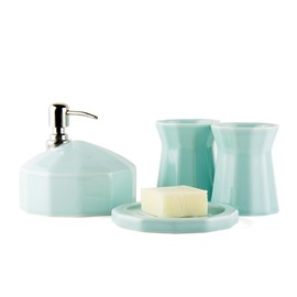 Originality Glaze Ceramics 4-Pieces Bathroom Accessories