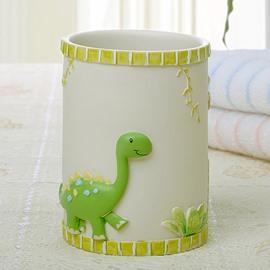 Adorable Cartoon Green Dinosaur Round Tooth Mug