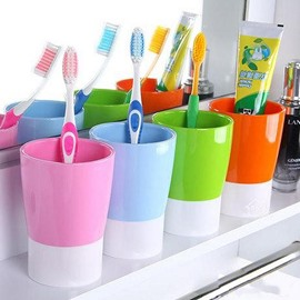 Hot Selling Fashion Concise Joint-color Plastic Tooth Mug
