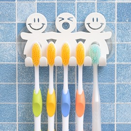 Super Cute Cartoon Resin Suction Toothbrush Holder