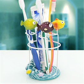 Small Fishes Resin Cute Style Toothbrush Holder