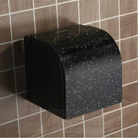 Cool Black Water-repellent Acrylic Toilet Paper Holder