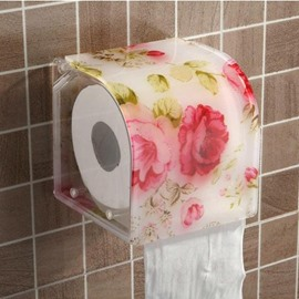 Dreamlike Red Peony Acrylic Toilet Paper Holder