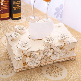 European Style Floral Design Ceramics Paper Holder