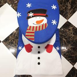 Mr. Snowman 3 Piece Set Toilet Cover