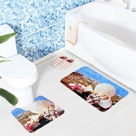 Beach Shell Polar Bear 2-Piece Toilet Seat Cover