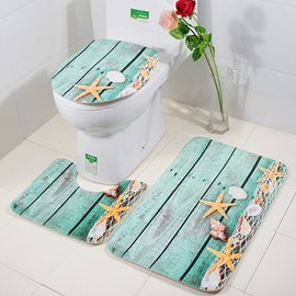 Seaside View Bathroom Anti-skid 3 Piece Set