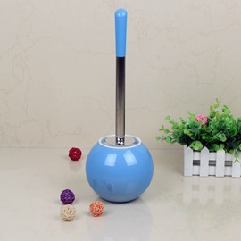 Creative Design Blue PVC Toilet Brush and Holder Bathroom Sets