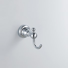Chrome Finish Bathroom Accessories Brass Single Robe Hook