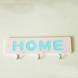 Sweet Home Pattern Acrylic Solid Glue Bathroom Hooks