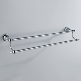 Chrome Finish Bathroom Accessories Brass Doudle Towel Rod