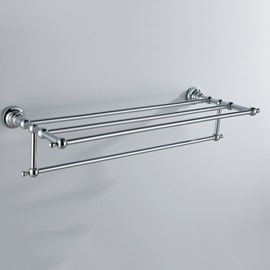 Chrome Finish Bathroom Accessories Brass Towel Rack