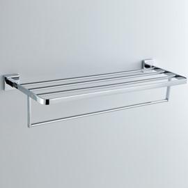 Chrome Finishd Solid Brass 24 Inch  Towel Bar Bathroom Shelf