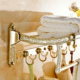 Luxury Exquisite Workmanship Collapsible Antique Bathroom Shelves
