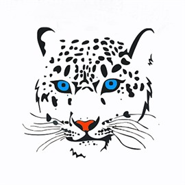 Creative Leopard With Blue Eyes Car Sticker