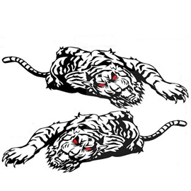Wonderful Strong Tiger Both Side Car Body Sticker