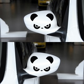 The Cute Angry Pandas Car Rear Mirrors Sticker