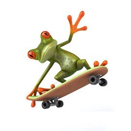 Skateboard Frog Style Car Sticker
