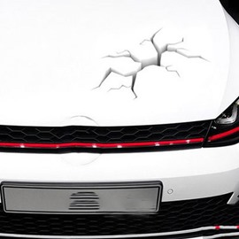 Vivid Crack 3D Effect Creative Car Engine Sticker