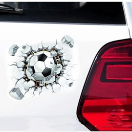 The Football Breaking the Wall Car Sticker