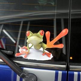Help Me Style Frog Pattern Design Creative Car Sticker