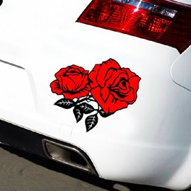Full Of Temptation Red Rose Popular Creative Car Sticker