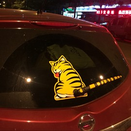 Cute And Creative Kitten Shaped Windscreen Wiper Car Sticker