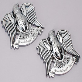 3D Aladdin Eagle Shape Alloy Material Car Sticker