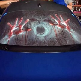 Creepy Bloody Hands Rear Window Decor Holloween Creative Car Sticker