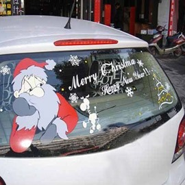 Santa Claus Pattern Marry Christmas Style Design Creative Car Sticker
