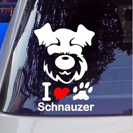 Cute Dog Face Full Body Creative Car Sticker