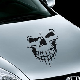 Popular Evil Skull Style Design Front Creative Car Sticker