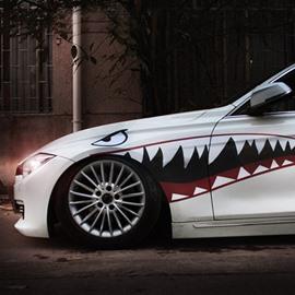 Super Cool Popular Creative Shark Design 1-Pair Car Sticker
