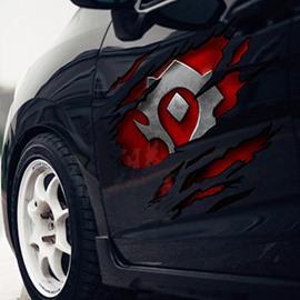 Cool Fashion Totem Pattern Design Side Door Large Car Sticker