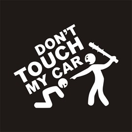 Interesting Pattern Waterproof Scratch Proof Car Sticker