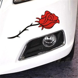Romantic Floral Pattern Two Color For Choice Waterproof Scratch Proof Car Sticker