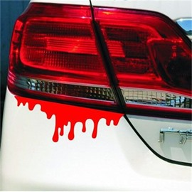 Creative Bleed Pattern Waterproof PVC Car Lamp Sticker