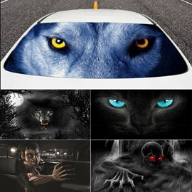 Creative Weird 3D Rear Windshield Ultraviolet-proof Car Stickers