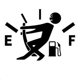 Warning Fuel Shortage Funny Car Sticker